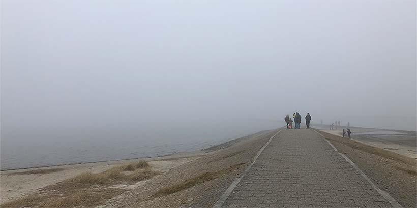 Nebel am Strand